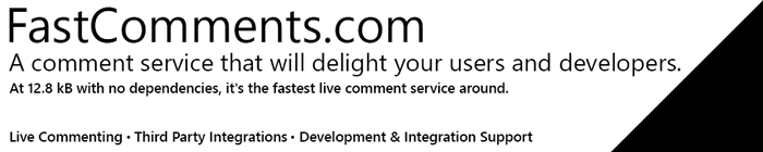 FastComments Banner